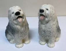 "Two Beswick ""Old English Sheepdog"" figur"