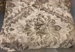 A large quantity of damask style silver