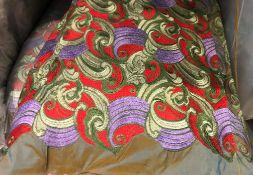 A large quantity of silk type material w