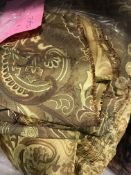A large amount of silk type gold coloure