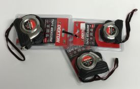 Three Dekton professional tape measures,