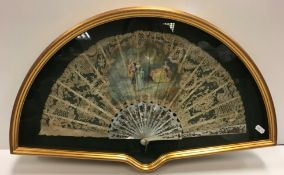 A late 19th Century J Donzel fan,