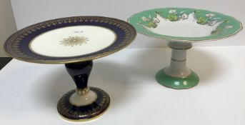 A box containing assorted Victorian and later china sets to include tazzas, plates, etc