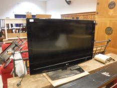 """An LG television, Model No. 42LF2500-ZA, 42"""" screenCondition ReportUnknown if working, sold as seen."""