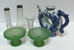 A box of assorted 20th Century china and glass to