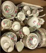 """A large collection of Crown Staffordshire """"Thousand Flowers"""", approx 131 pieces, including various"""