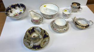 A 19th Century Copeland and Garrett late Spodes Felspar porcelain trio of two cups and saucer and