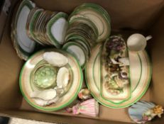 A collection of assorted dinner wares including Burleighware by Burgess & Leigh Limited, a gilt