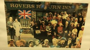 """AFTER PETER BLAKE """"Coronation Street cast outside The Rovers Return"""", colour print, limited"""
