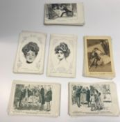 A collection of approx 60 vintage postcards of Charles Gibson drawings