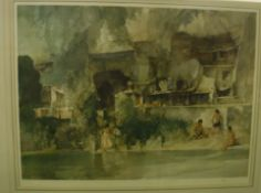 """AFTER SIR WILLIAM RUSSELL FLINT """"In Sunny Perigord"""", limited edition colour print No'd. 735/850"""