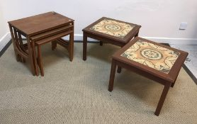 A 19th Century mahogany rectangular snap top tea table on tripod base, a folding coaching table in