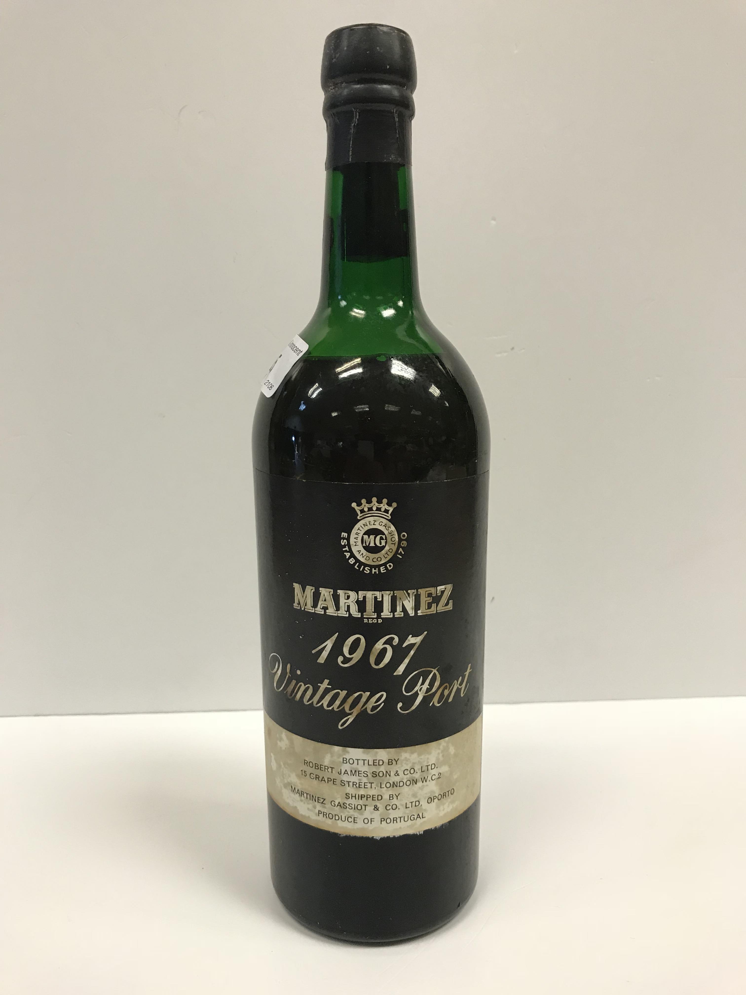 Martinez Vintage Port 1967 bottled by Robert James Son & Co. Ltd x 1 bottle - Image 4 of 4
