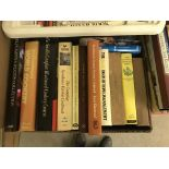 Five boxes of modern and vintage books on the subject of cookery, sewing, knitting and various