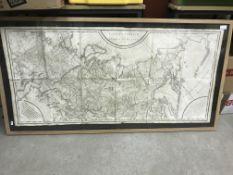 """AFTER P. F TARDIEU """"Carte Generale de L'Empire de Russie 1878"""", image size 58 cm x 123 cm"""