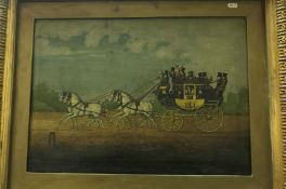 """ATTRIBUTED TO JOHN CORDNEY (1765-1825) """"The loaded coach Magnet 4891"""", with team of four and various"""