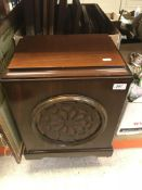 Three boxes of assorted china, a box of assorted glass, a box of assorted sundry table lamps, etc,