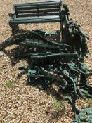A collection of wrought iron garden bench end parts ex of .... Race Park