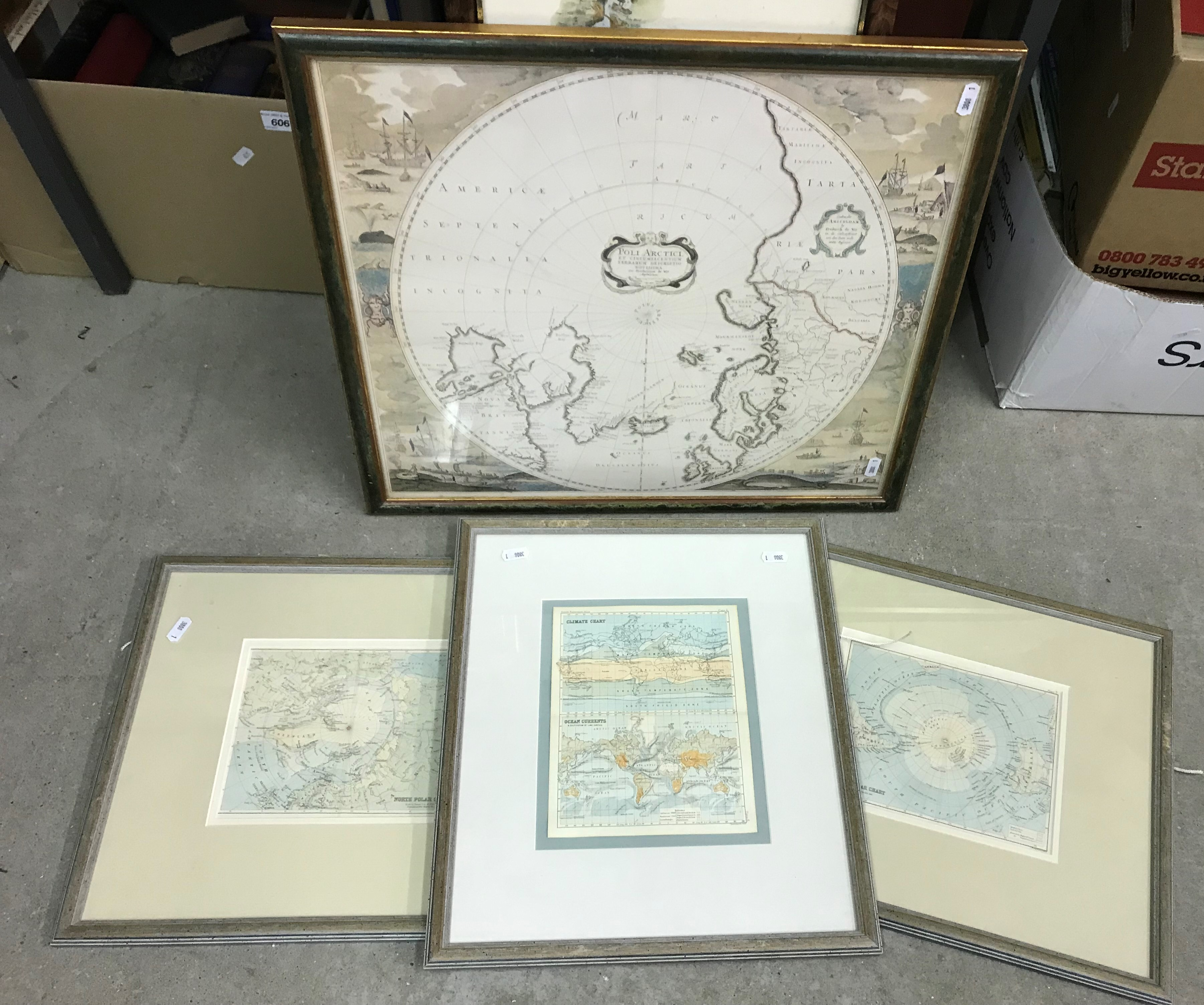 """AFTER J RAPKIN """"Falkland Islands and Patagonia"""" a map, visible image 35.5 cm x 25.5 cm, together - Image 4 of 4"""