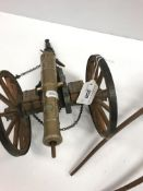 """A bronze model working canon, bearing various cyphers including """"GR"""" and """"360"""" over """"C"""", within a"""