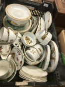"""A collection of Royal Worcester """"Evesham"""" pattern dinner and tea wares including cups, saucers, jug,"""