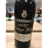 Martinez Vintage Port 1967 bottled by Robert James Son & Co. Ltd x 1 bottle