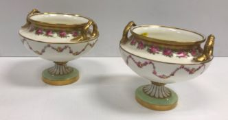 """A set of six Derby Stevenson & Hancock """"Japan"""" pattern cups, saucers and plates, together with a"""