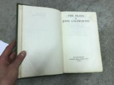 """JOHN GALSWORTHY """"The Plays of ….."""", limited edition on handmade paper, signed by the author and No'"""