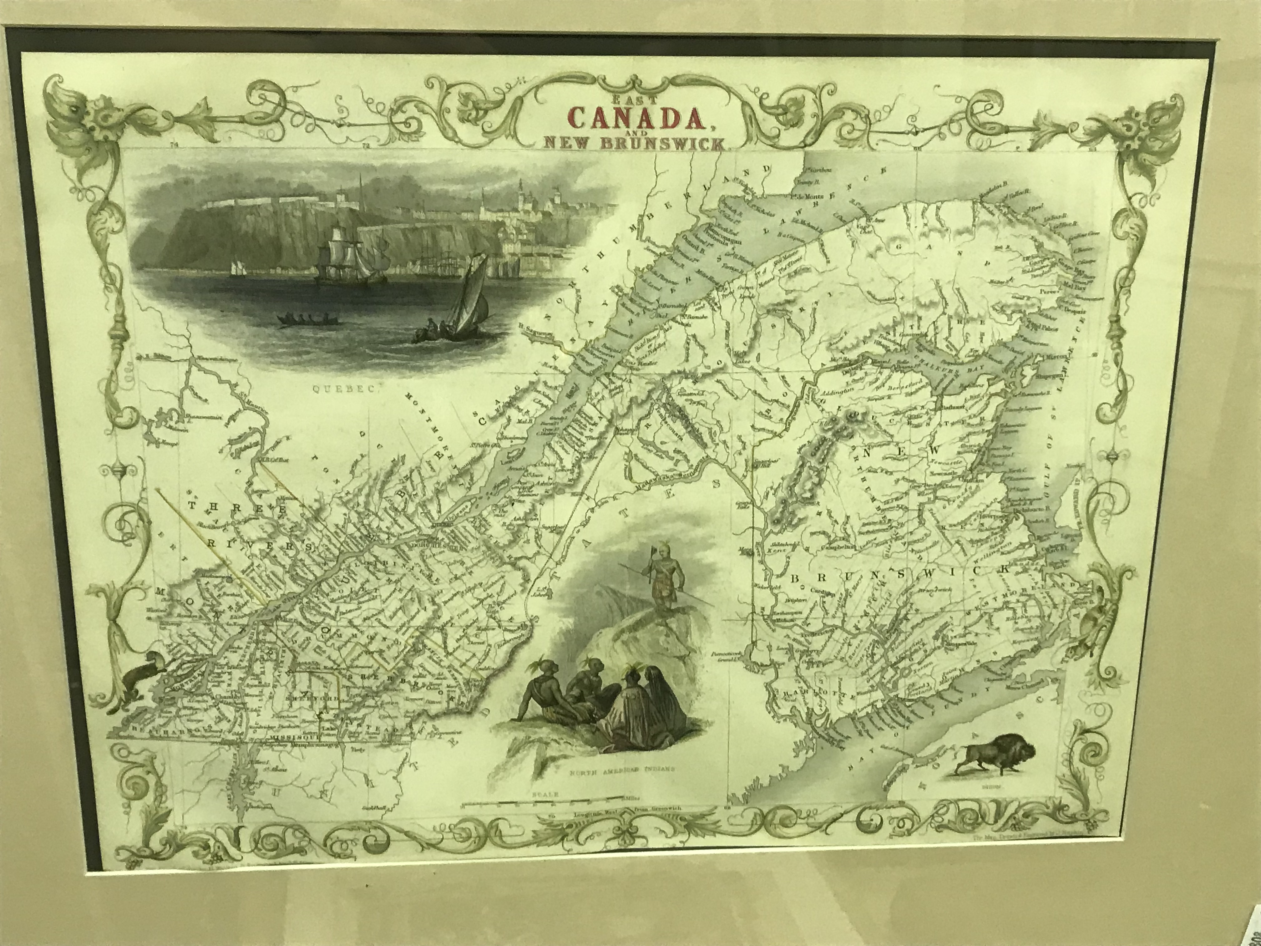 """AFTER J RAPKIN """"Falkland Islands and Patagonia"""" a map, visible image 35.5 cm x 25.5 cm, together - Image 2 of 4"""