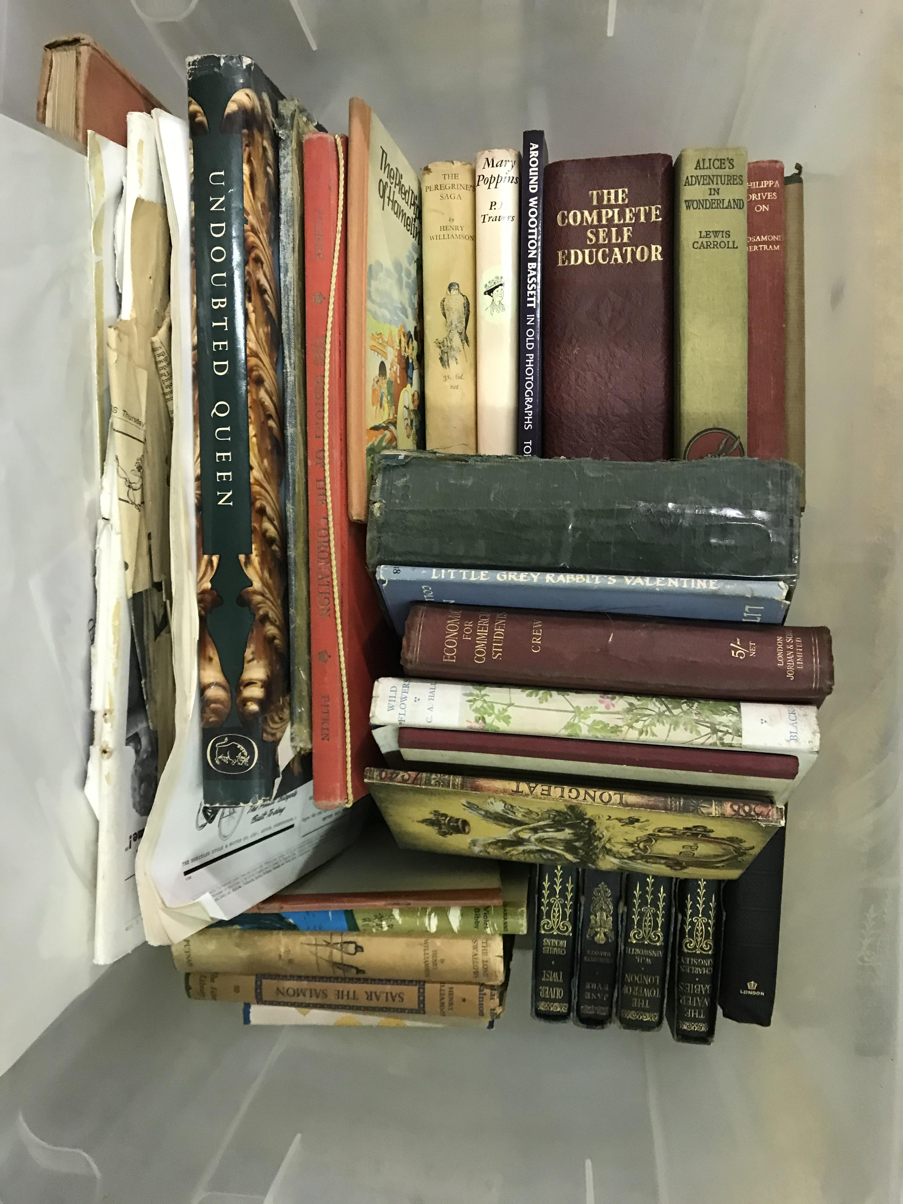 """Two boxes of mainly childrens' or reference books including 1965 edition of """"Winnie The Pooh"""", - Image 2 of 4"""