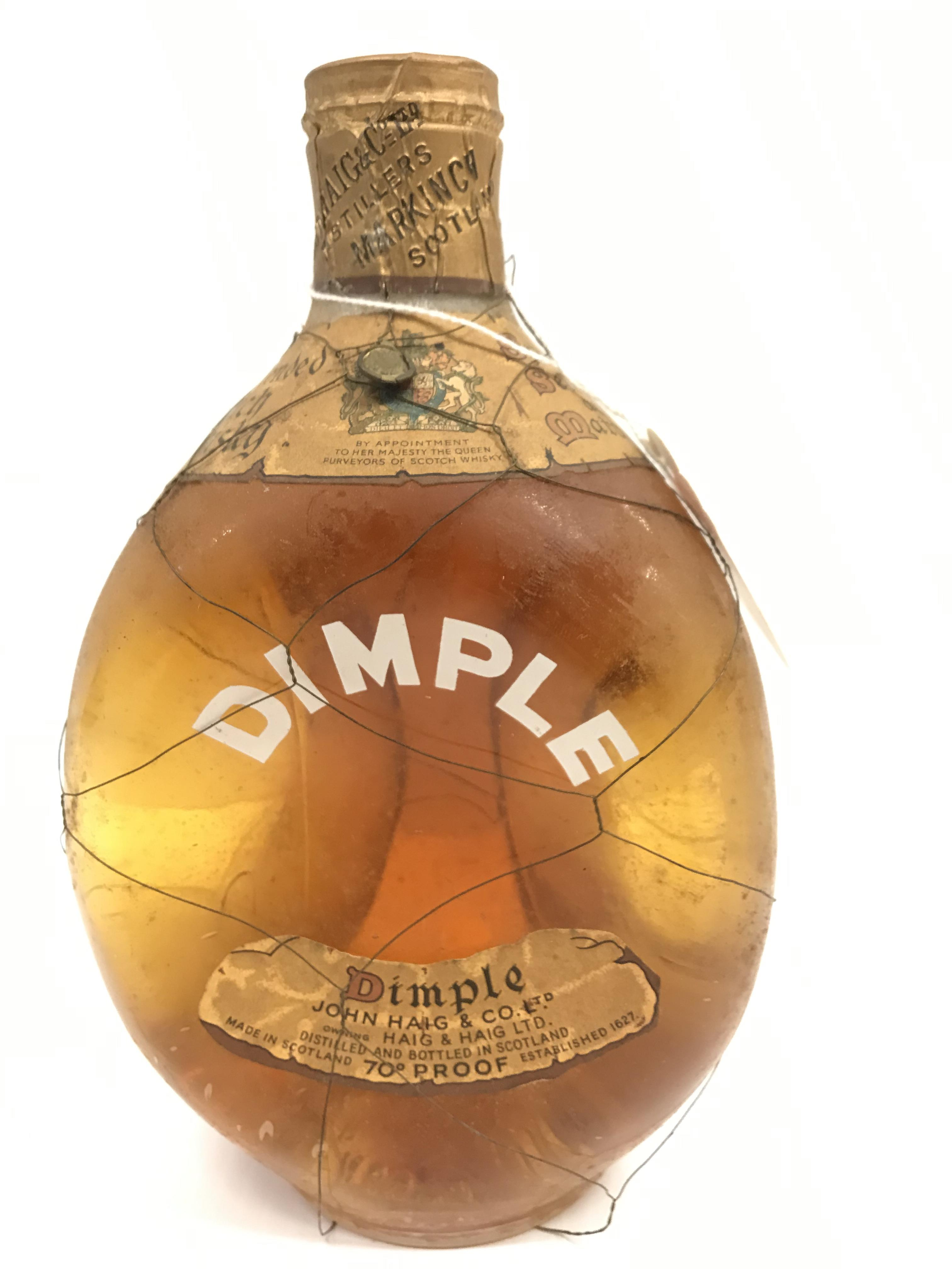 """John Haig & Co. Limited """"Dimple"""" Old Blended Scotch Whisky """"By Appointment to Her Majesty The"""