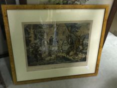 """A collection of pictures, prints and engravings to include """"The Hunter's Marriage"""", AFTER H THURSTON"""