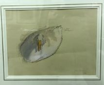 """JOHN SERGEANT (1937-2010) """"Duck"""" watercolour, signed and dated 1986 bottom right image size 22 cm"""