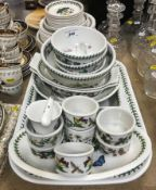 """A collection of Portmeirion """"Botanic Garden"""" and """"Botanic Roses"""" dinner wares to include six"""