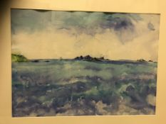 """RONE SCOTT """"From Treson - The Edge of the World"""", watercolour, signed and dated May 98 lower"""
