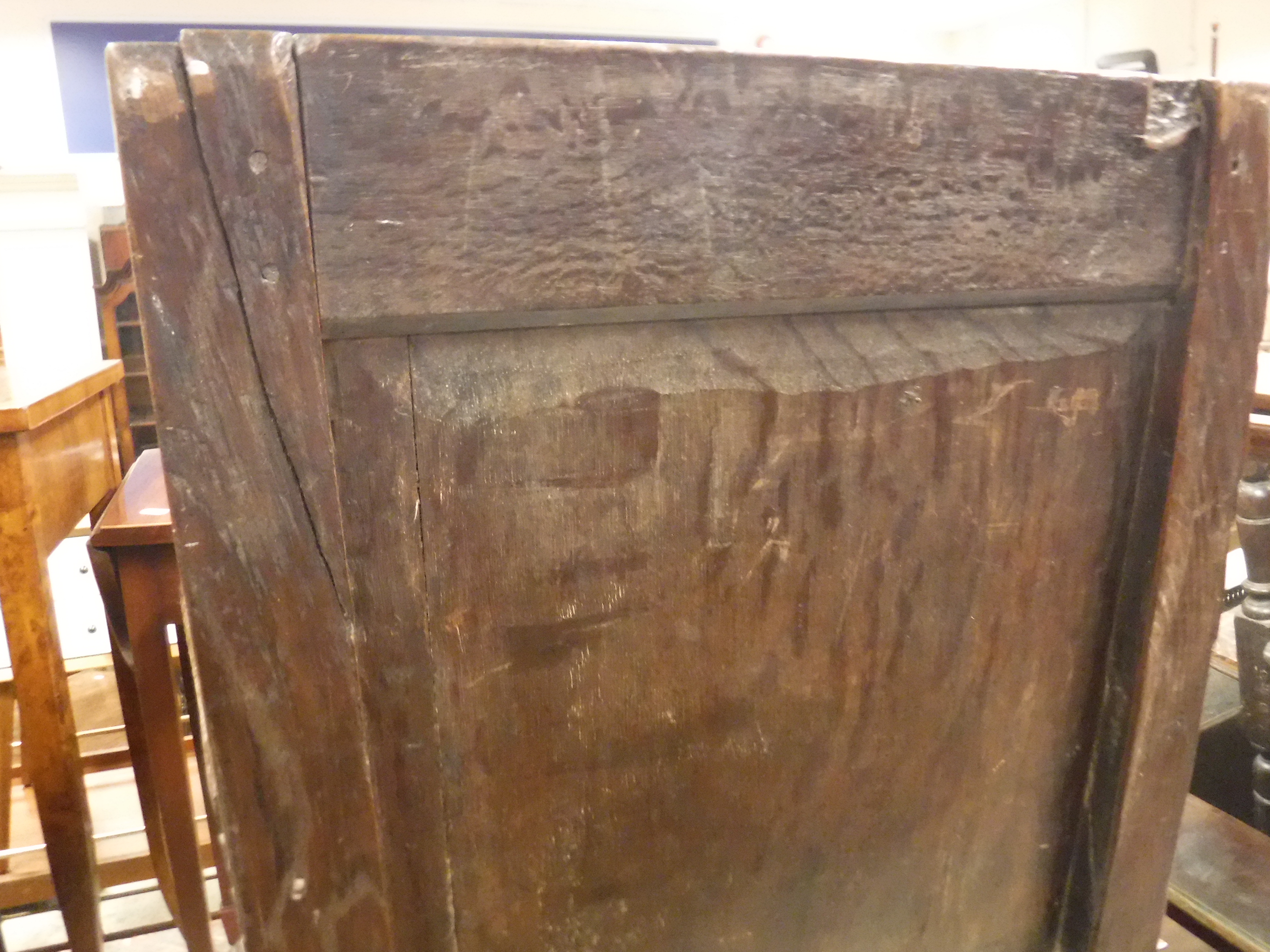 A 17th Century oak Wainscott type chair, the lunette carved top rail over a foliate medallion - Image 11 of 24