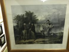 """AFTER RICHARD ANSDELL """"A scene at Wiseton"""" depicting John Charles 3rd Earl Spencer and associates"""