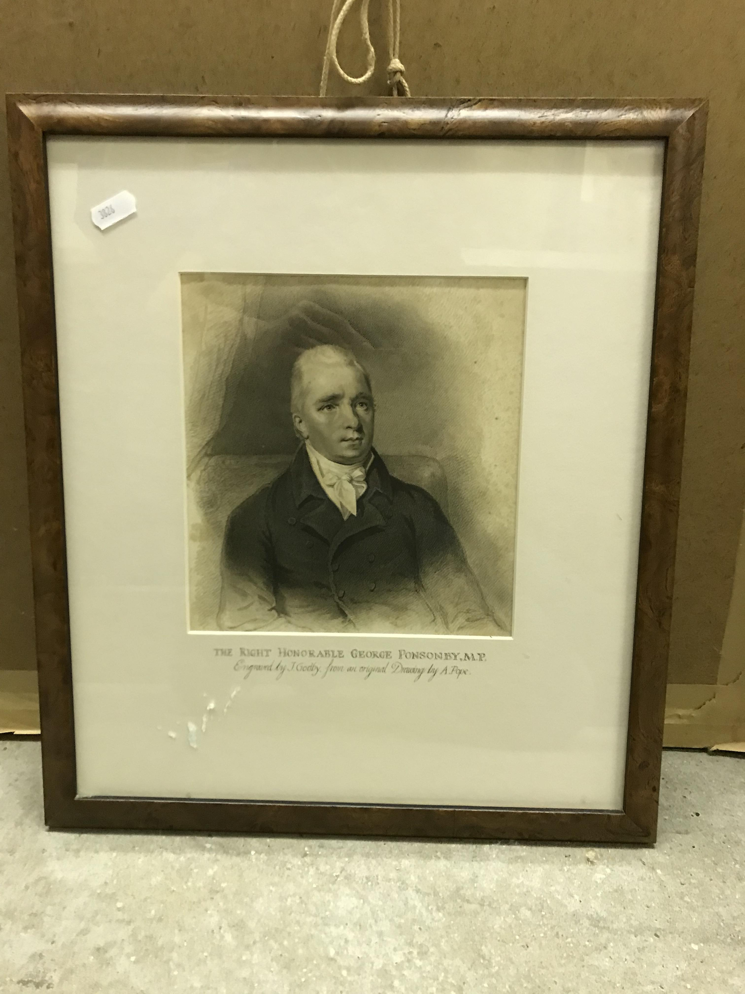"""AFTER A POPE """"The Right Hon George Ponsonby MP"""", engraved by J Godbury, published Feb 1811 by T - Image 3 of 4"""