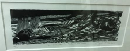 """AFTER SARAH VAN NIEKERK """"The wind from the feet of the dead"""", limited edition print No'd. 21/100,"""