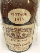 Le Cognac de la Maison Godet Vintage 1915 from the Private Collection of Messrs Godet Frères at