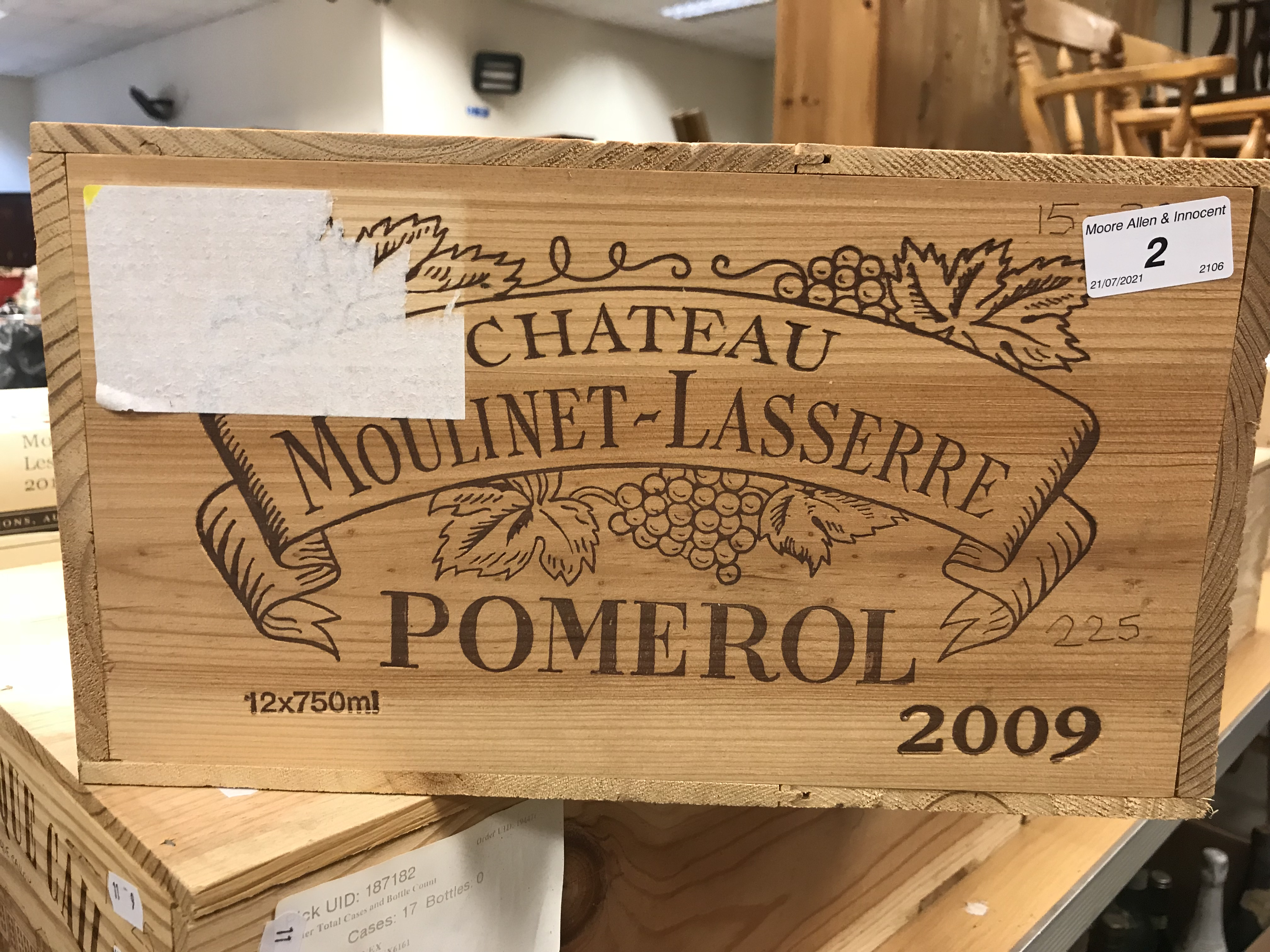 Chateau Moulinet-Lasserre Pomerol 2009 x 12 bottles (OWC)