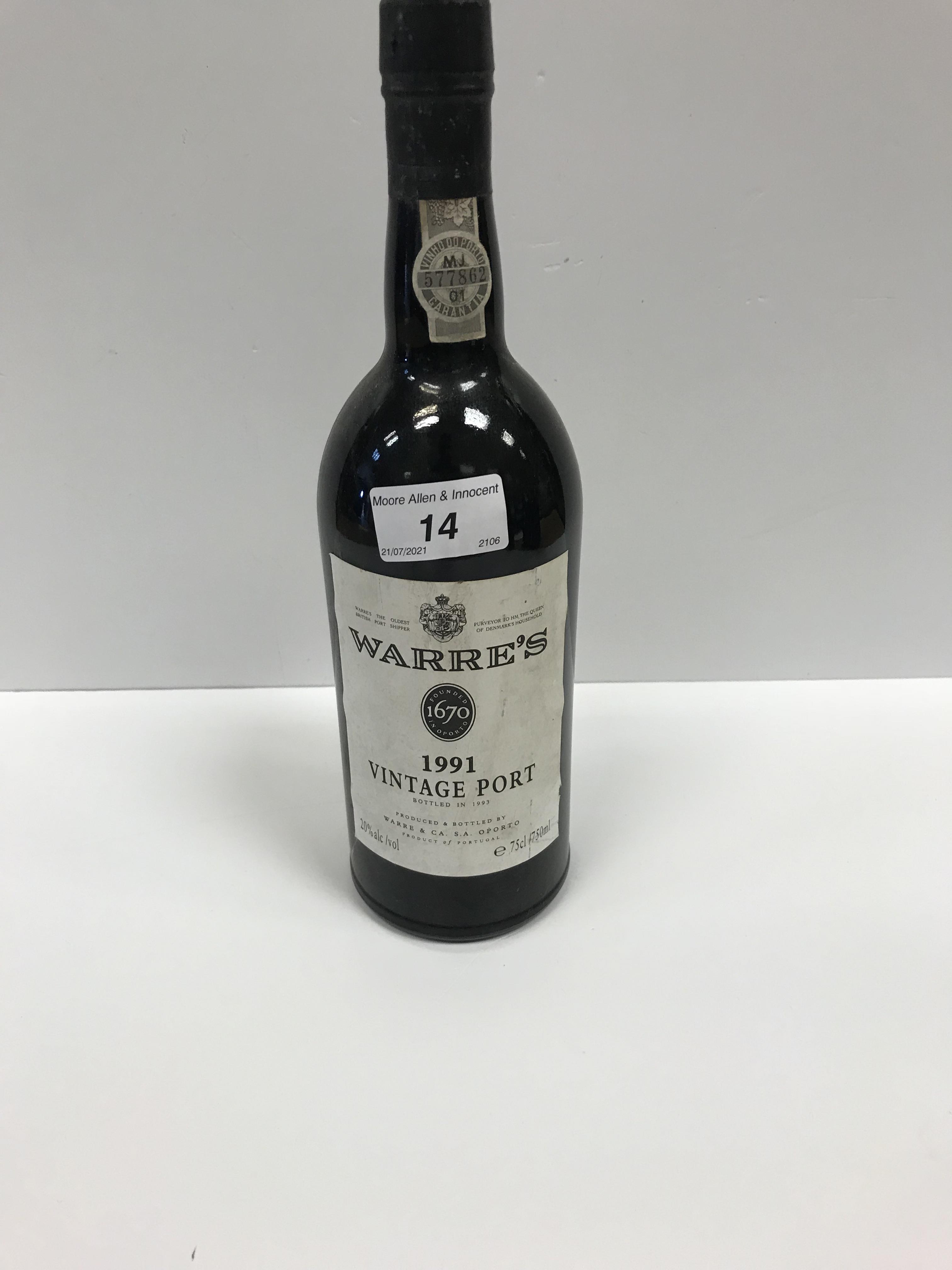 Chateau Ducru Beaucaillou Saint Julien 1995 x 1 bottle, Warre's Vintage Port 1991 x 1 bottle, - Image 3 of 14