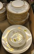 A Spode white glazed and gilt decorated part dinner service with gadrooned rim, design No. 1/4223,