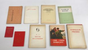 A box containing approx 100 mainly Chinese language paperback books and pamphlets on the subject