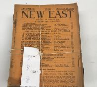 """Seven volumes """"The New East, Volume I - No's 1-7 June- December 1917"""", edited by J W Robertson"""