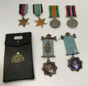 A collection of World War II RAF medals including Arabian service medal 1839-1967, Air crew Europe