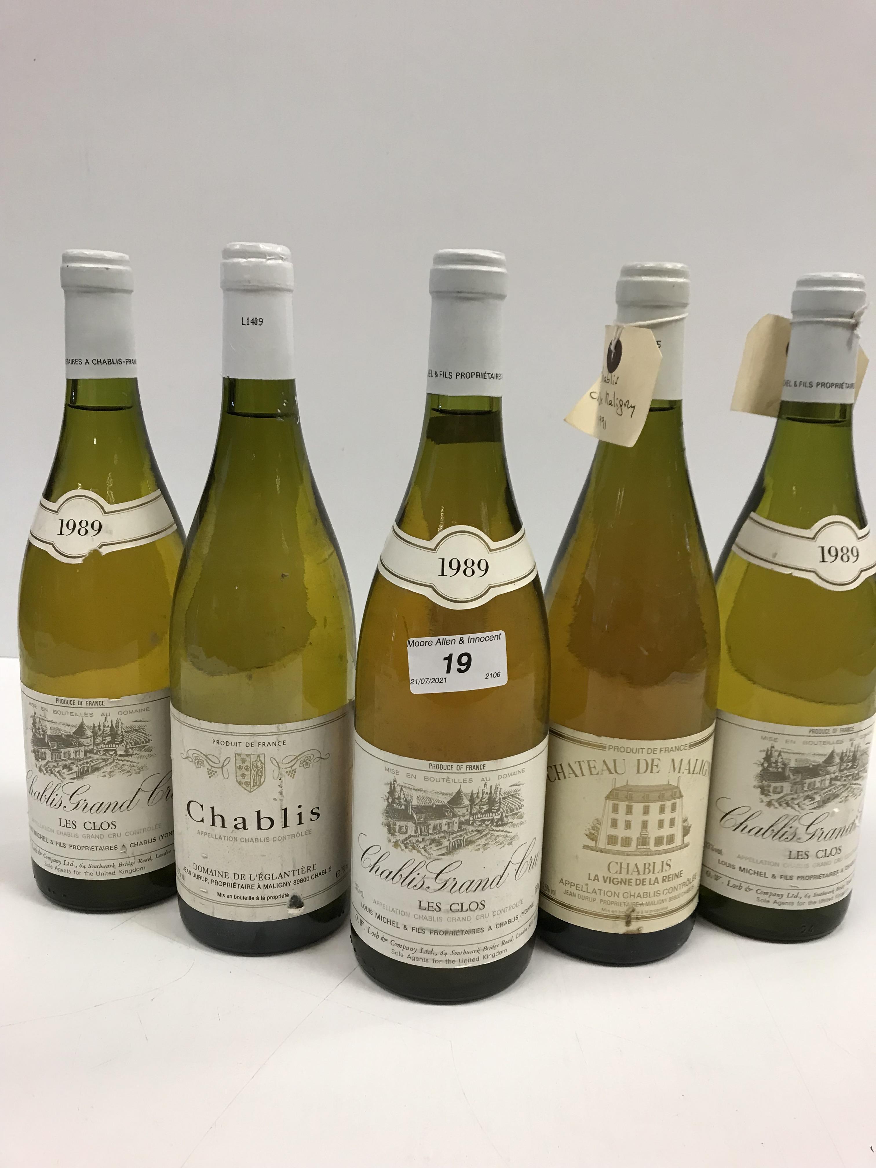 Chablis Grand Cru Les Clos, Louis Michele & Fils 1989 x 5 bottles