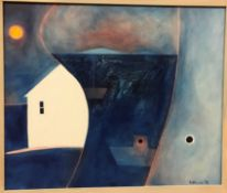 """NOEL BETOWSKI """"Blue harbour"""", signed and dated 1999 lower right, image size 76 cm x 91.5 cm"""