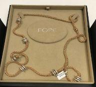 "A Fope 18 carat rose gold ""Flex It Solo Rope"" diamond set necklace, 2.24 carat, 90 cm long,"