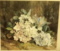 """G R SMITH """"Rhododendrons"""", still life study, image size 45 cm x 51 cm, together with """"Study from"""
